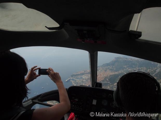 Helikopterflug über Monaco