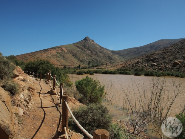 Groß ist der größte Stausee Fuerteventuras nicht
