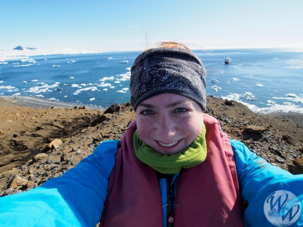 Auf Brown Bluff war es sogar für die Antarktis sehr warm