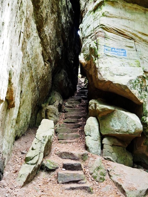 Es sind viele Treppen zu überwinden