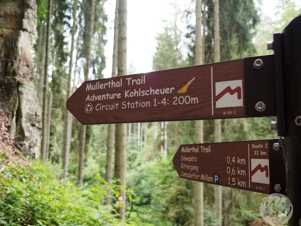 Auch hier auf dem Müllerthal Trail sind die Wege gut ausgeschildert