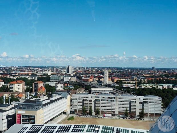 Stockholm aus der Vogelperspektive vom Ericson Globe